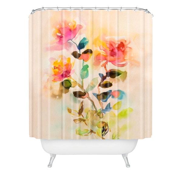 Marta Spendowska Watercolor Vintage Roses Shower Curtain