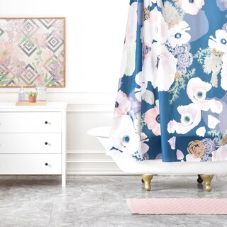 Khristian A Howell Une Femme In Blue Shower Curtain