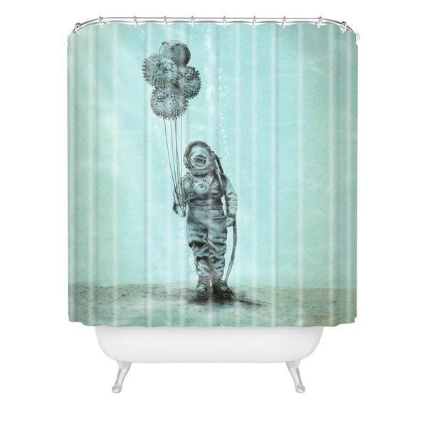 Eric Fan Balloon Fish Shower Curtain