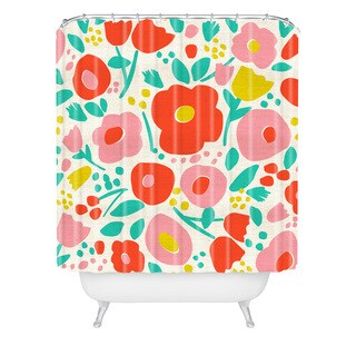 Zoe Wodarz Delightful Floral Shower Curtain