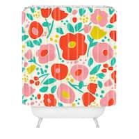 Zoe Wodarz Delightful Floral Shower Curtain