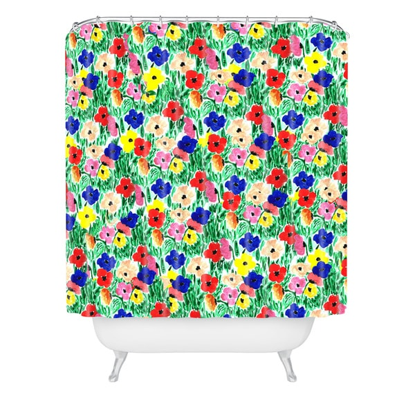 Bouffants And Broken Hearts All The Flowers Shower Curtain