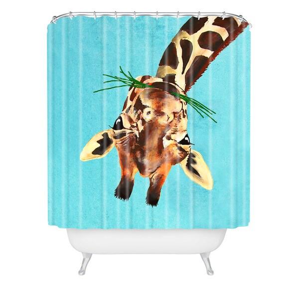 Coco De Paris Giraffe Upside Down Shower Curtain