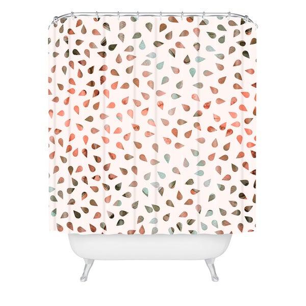 Hello Sayang Sweet Rose Petals Shower Curtain