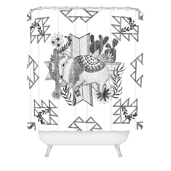 Dash And Ash Arrlo The Buffalo Shower Curtain