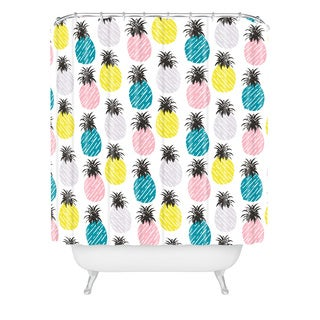 zoe wodarz pineapple pastel shower curtain
