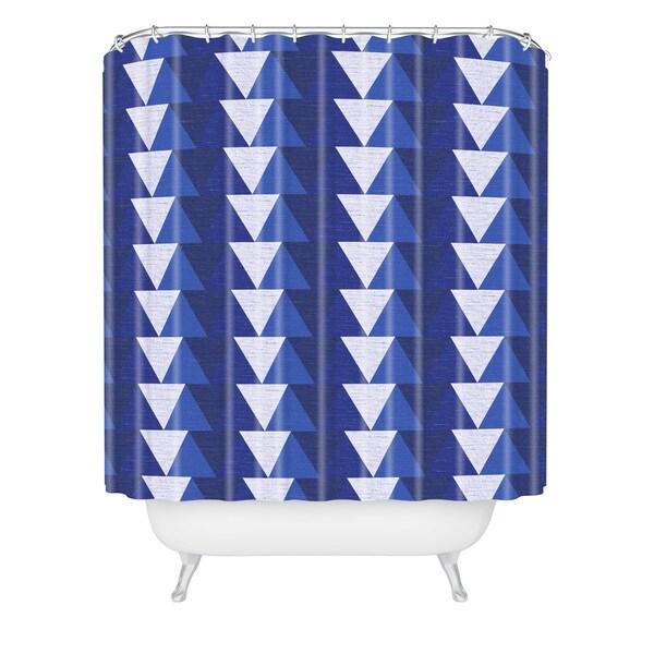 Zoe Wodarz Indigo Triangle Shower Curtain