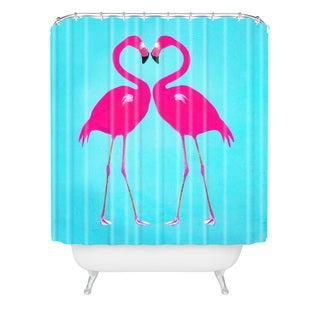 Coco De Paris Flamingo Heart Shower Curtain