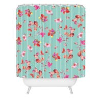 Bianca Green Bloom Ii Shower Curtain