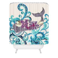Valentina Ramos Whale Blossom Shower Curtain