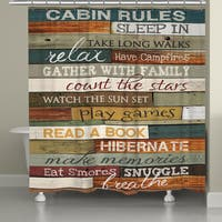 Laural Home Rules of the Cabin Shower Curtain