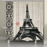 Laural Home Eiffel Tower Pattern Shower Curtain