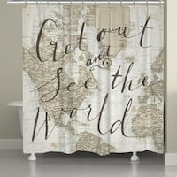 Laural Home World Traveler Shower Curtain
