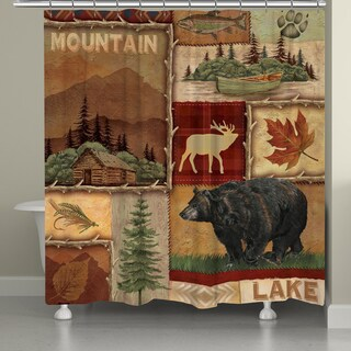 Laural Home Nature Collage Shower Curtain