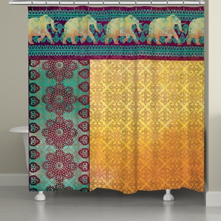 Laural Home Moroccan Elephants Shower Curtain