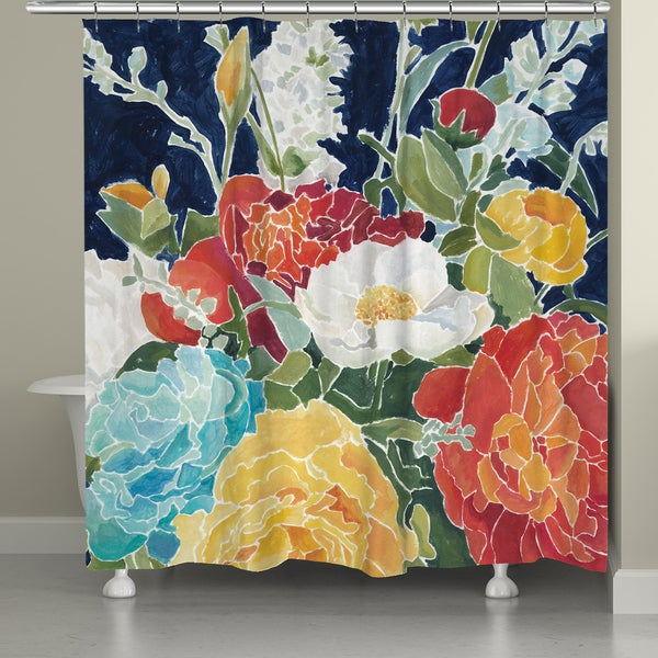 Shop Laural Home Midnight Garden Shower Curtain