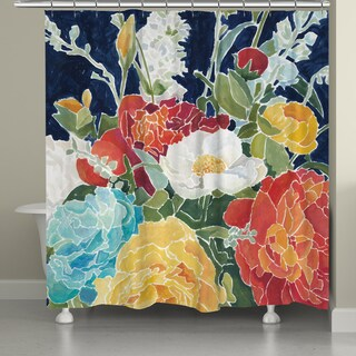 Laural Home Midnight Garden Shower Curtain