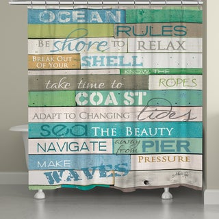 Laural Home Rules of the Ocean Shower Curtain