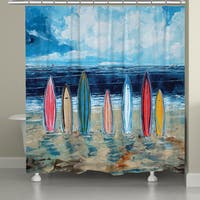 Laural Home Summer Surfboards Shower Curtain