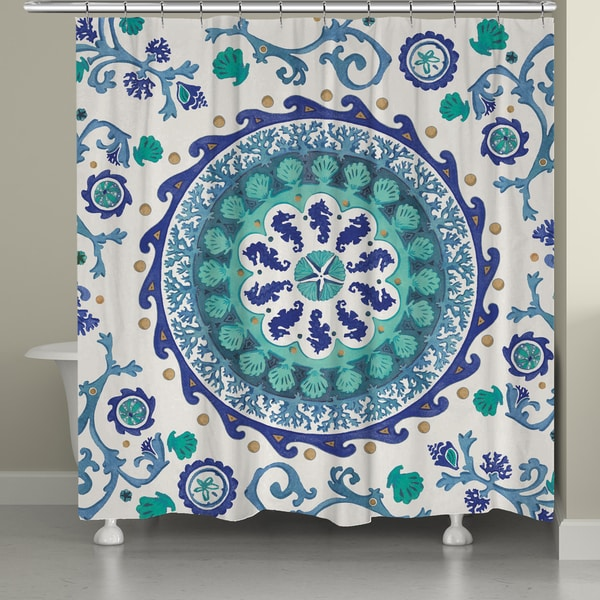 Laural Home Ocean Medallion Shower Curtain