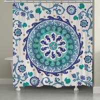 Laural Home Ocean Medallion Shower Curtain