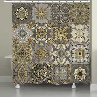Laural Home Ornate Tiles Shower Curtain