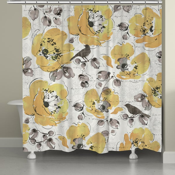 Laural Home Morning Blooms Shower Curtain