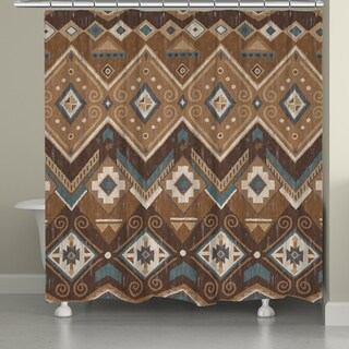 Laural Home Aztec Shower Curtain