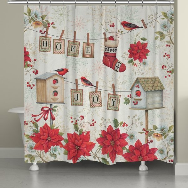 Laural Home Home for the Holidays Shower Curtain