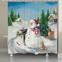 Laural Home Letter to Santa Shower Curtain
