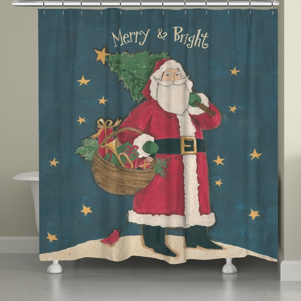 Laural Home Merry & Bright Shower Curtain