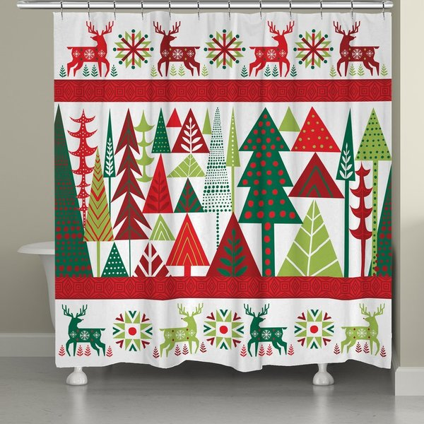 Laural Home Nordic Christmas Shower Curtain