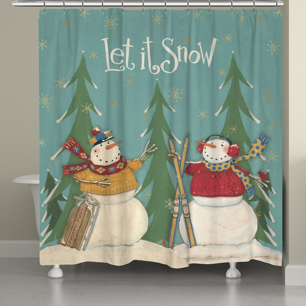 Laural Home Snowmen Friends Shower Curtain