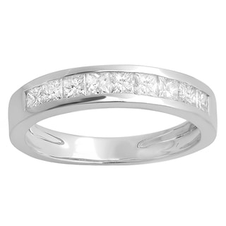 14k White Gold 7/8ct TDW Princess-cut Diamond Anniversary Wedding Band Stackable Ring (H-I, I1-I2)
