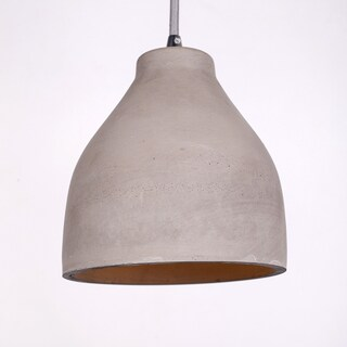 White Iron/Cement Cup-shaped Shade Pendant Light