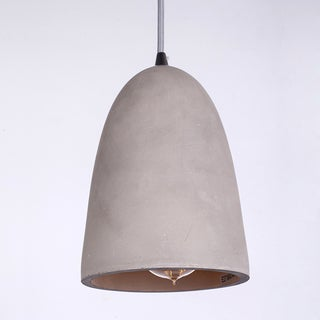Simple Deep Cement Shade Iron Pendant Light