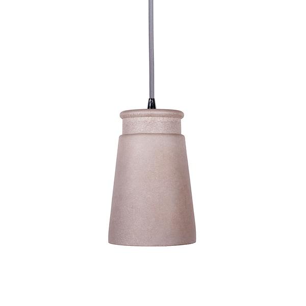 Grey Concrete Cup-shape 1-light Pendant Lamp