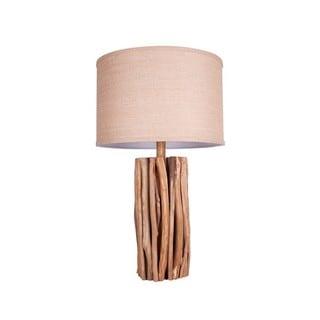 Illuminada 3 Way Wood Table Lamp And Natural Linen