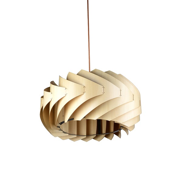 Paper waves jazz wood pendant lamp free shipping today 19605274 - Paper lighting fixtures ...