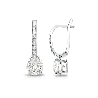 Auriya 14k Gold 3/4ct TDW Diamond Dangle Earrings (I-J, SI2-SI3)