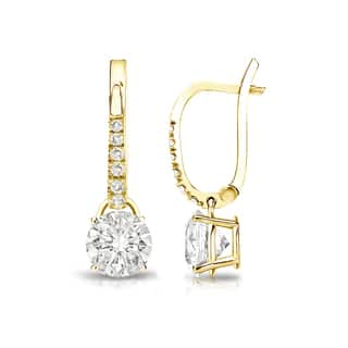 Auriya 14k Gold 1ct TDW Round Diamond Dangle Lever-Back Earrings|https://ak1.ostkcdn.com/images/products/12842365/P19607162.jpg?impolicy=medium
