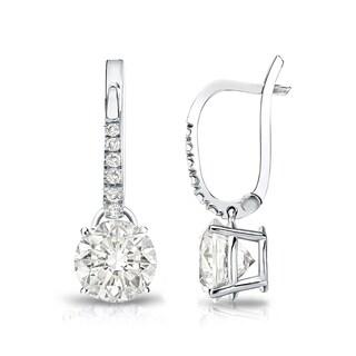 Auriya 14k Gold 1 3/4ct TDW Round Diamond Dangle Earrings (I-J, SI2-SI3)