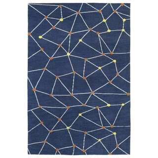 Littles Denim Galaxy Microfiber Rug (8'0 x 10'0)