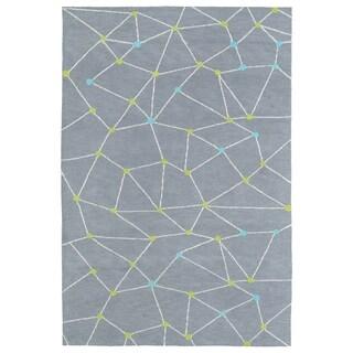 Littles Grey Galaxy Microfiber Rug (8'0 x 10'0) - 8' x 10'