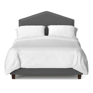 Portfolio House Parisian Smoky Grey Upholstered California King Bed