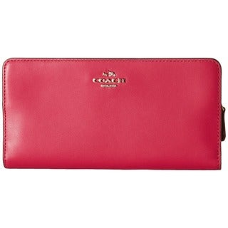 Coach Cerise Leather Skinny Wallet