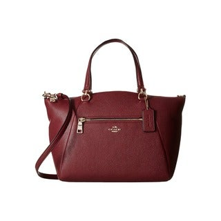 Coach Prairie Burgundy Leather Satchel Handbag