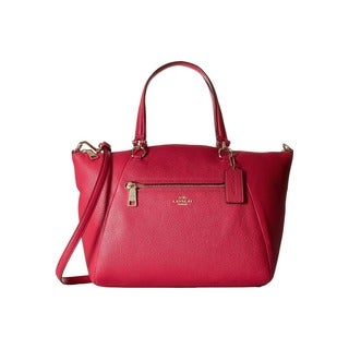 Coach Prairie Women's Cerise Pink Leather Satchel Handbag
