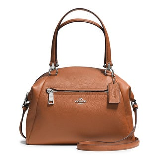 Coach Prairie Brown Leather Saddle Satchel Handbag