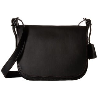 Coach Black Glovetanned Leather Crossbody Saddle Handbag